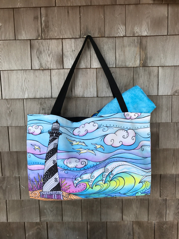 Hatteras Waves Beach Bag