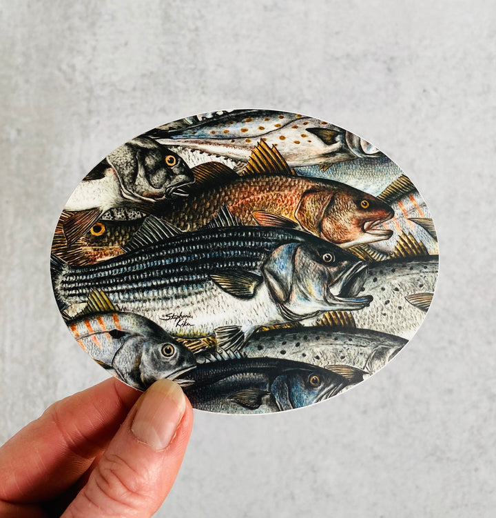 Surf Fish Sticker