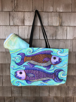 Two Fishes Beach Bag