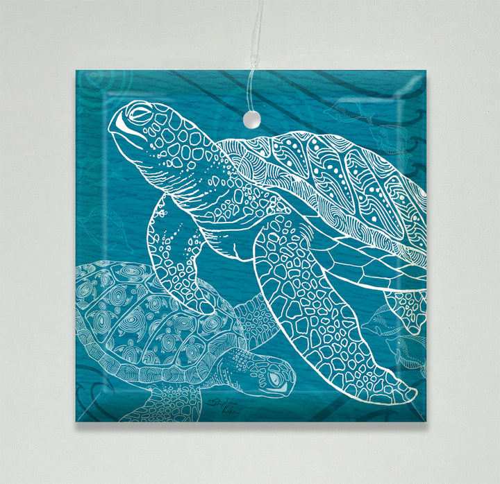 Sea Turtles One Color Ornament/Suncatcher