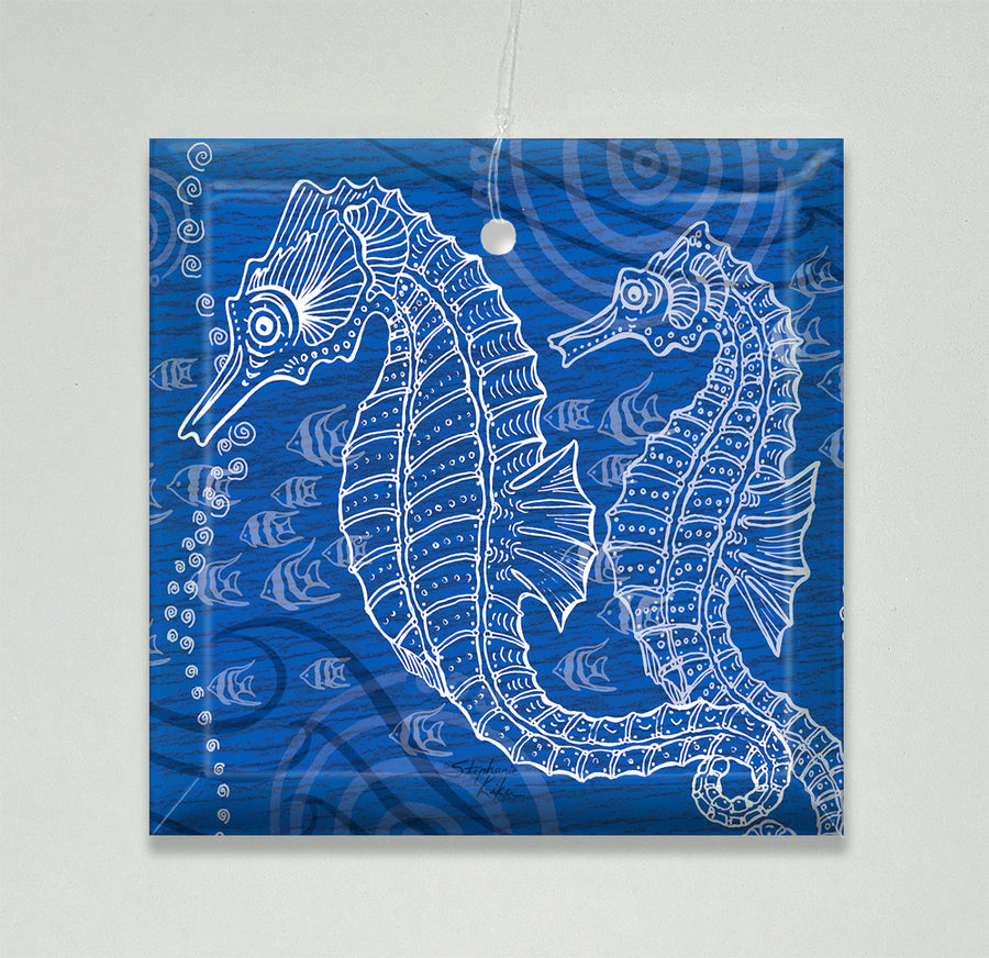 Seahorses One Color Ornament/Suncatcher