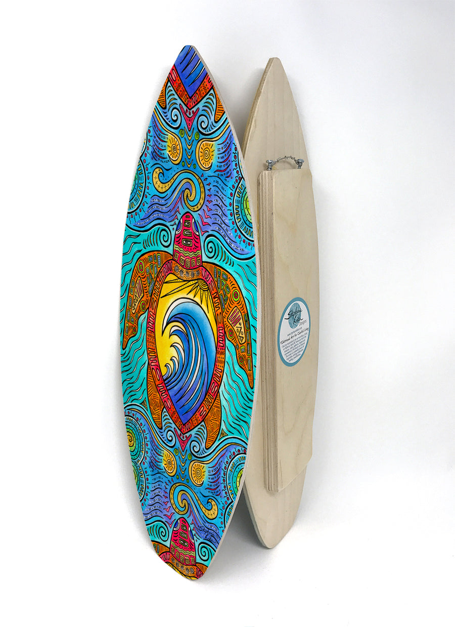 Waves of the Turtle Surfboard Wall Art
