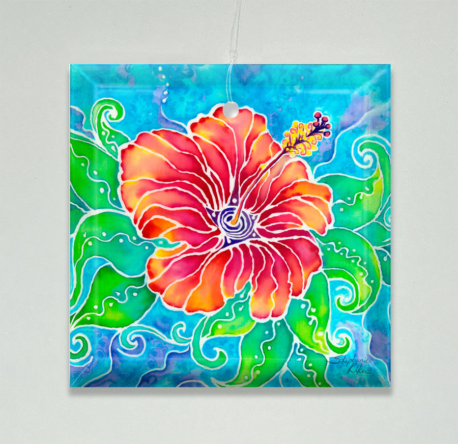 Tropical Hibiscus Ornament/Suncatcher