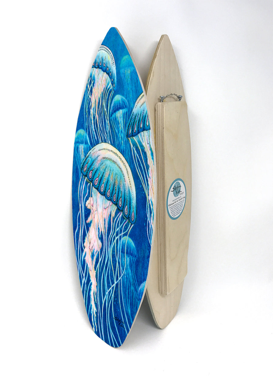 Jellyfish Surfboard Wall Art