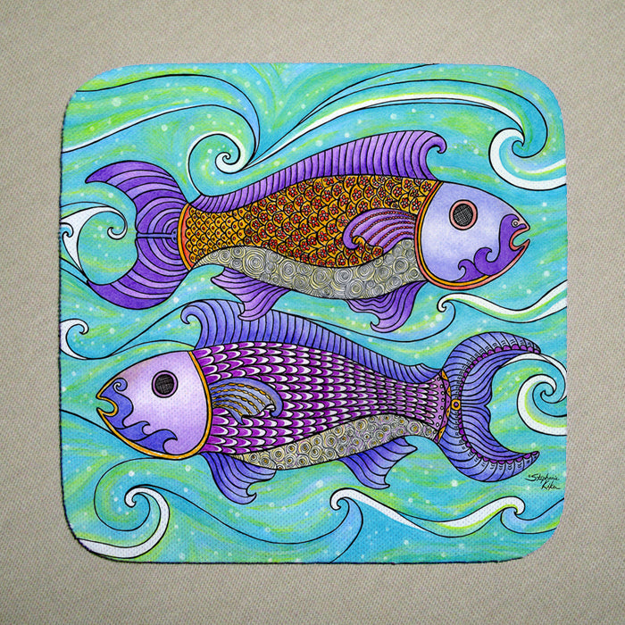 Two Fishes Coaster