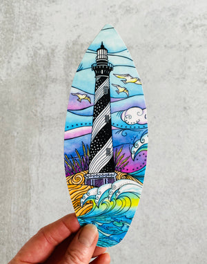 Hatteras Waves Surfboard Sticker