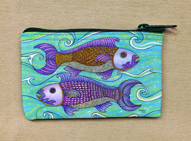 Two Fishes Coin Bag