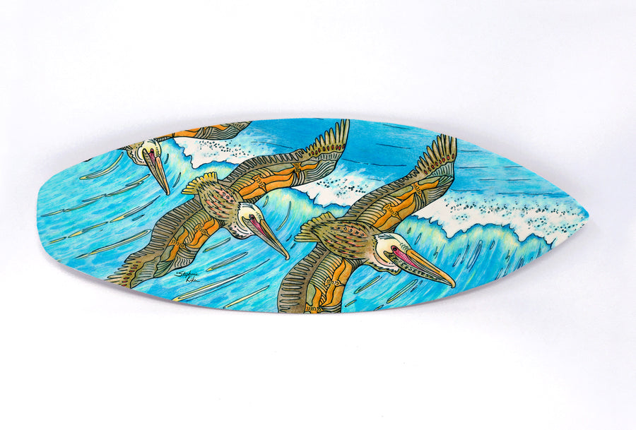 Wings over Waves Surfboard Wall Art