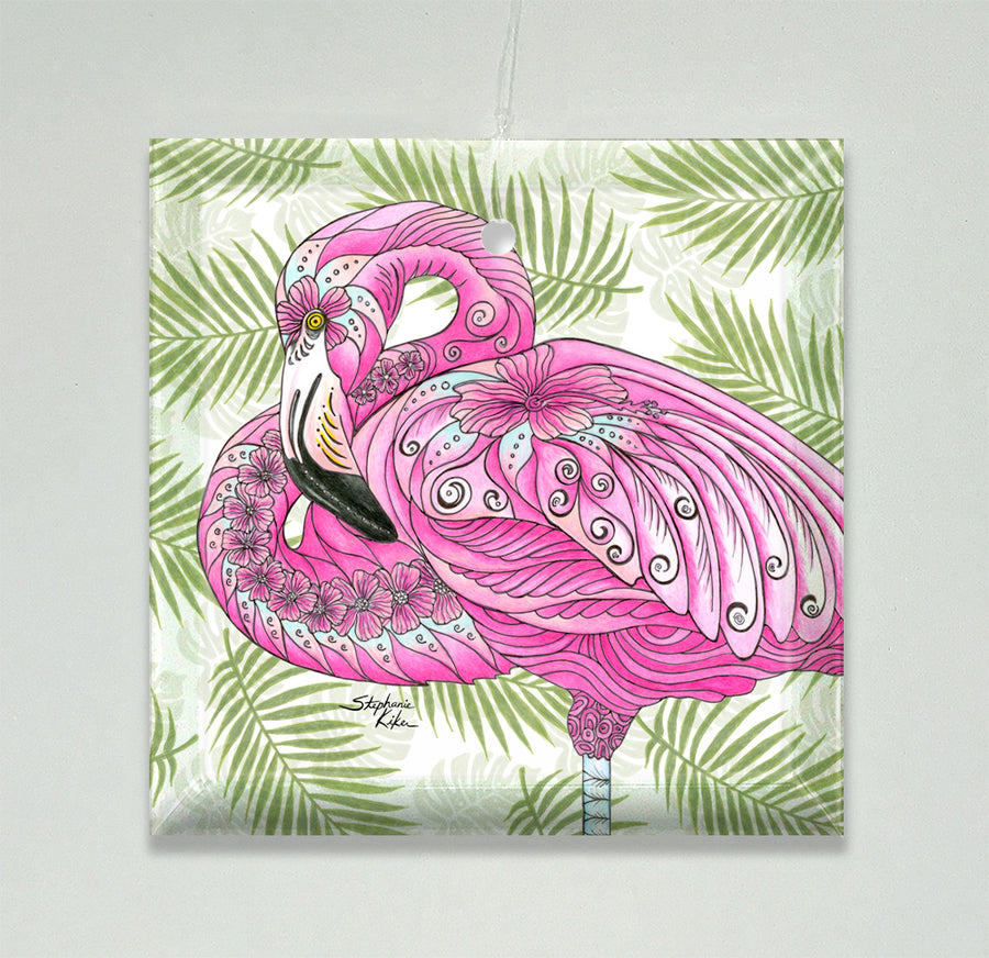 Flamingo Flowers Ornament/Suncatcher
