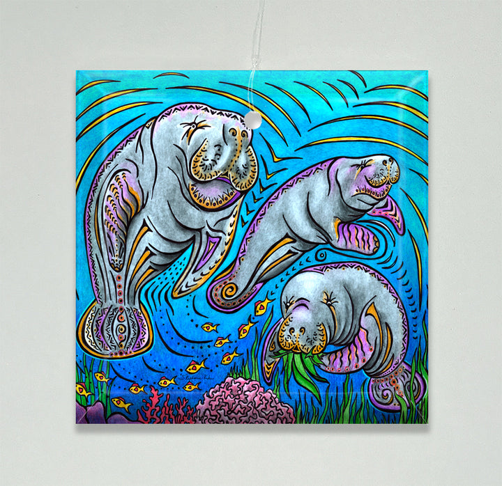 Manatees Ornament/Suncatcher