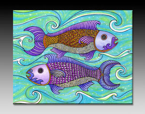 Two Fishes Ceramic Tile