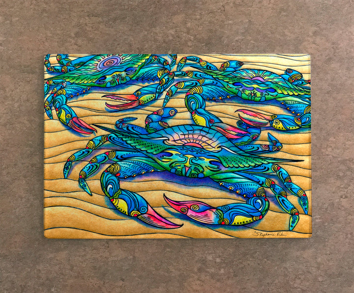 Blue Crabs Cutting Board