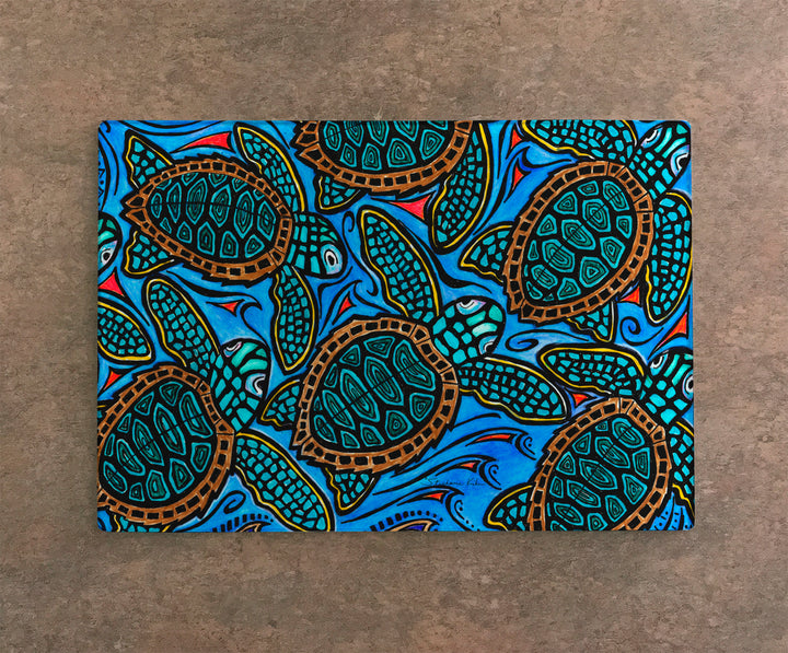 Baby Turtles Cutting Board