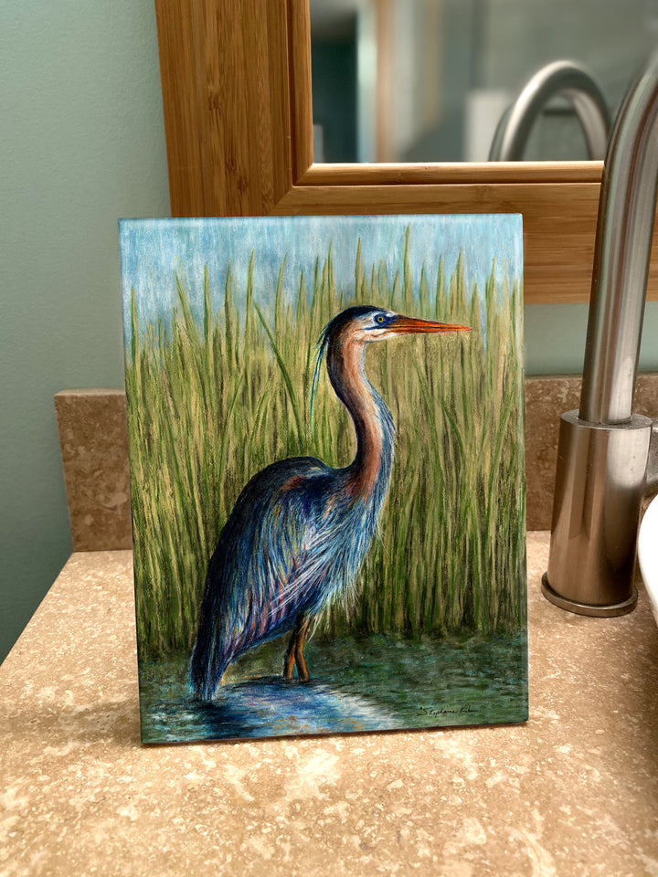 Blue Heron Ceramic Tile