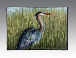 Blue Heron Door Mat