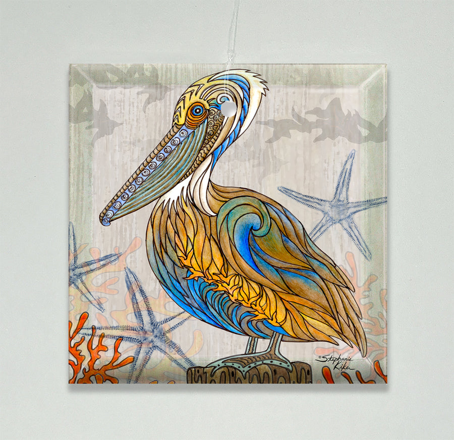 Pelican Perch Ornament/Suncatcher