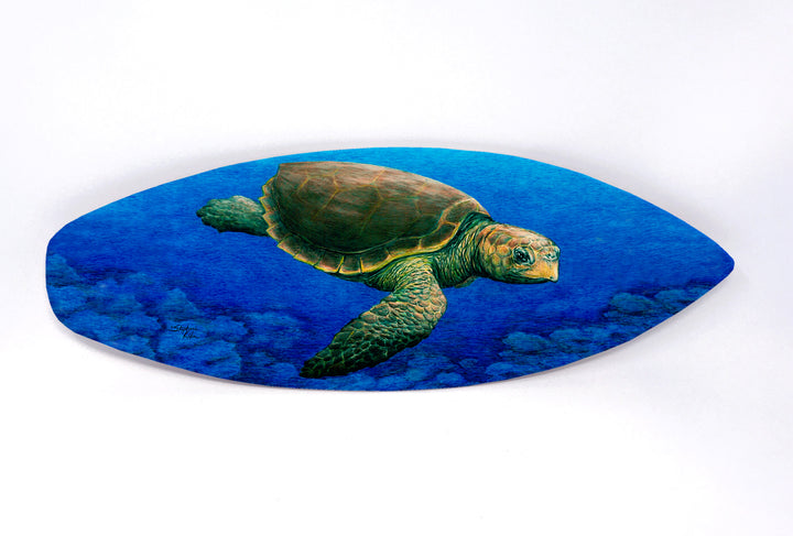 Loggerhead Turtle Surfboard Wall Art