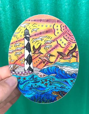Cape Lookout Sticker