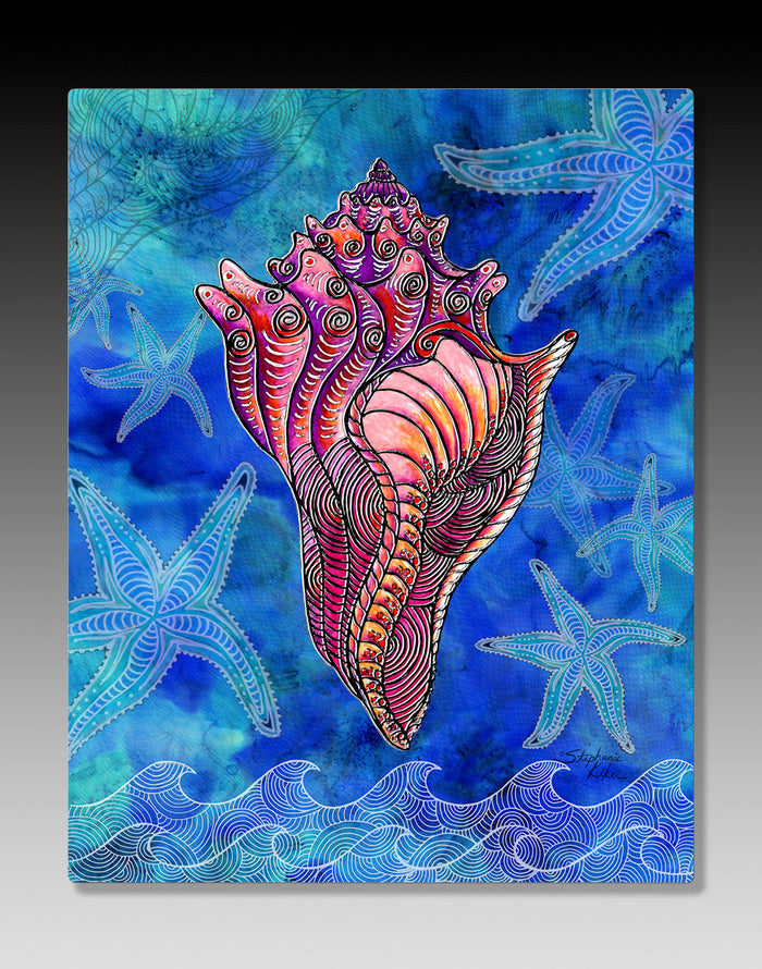 Conch Shell Aluminum Wall Art