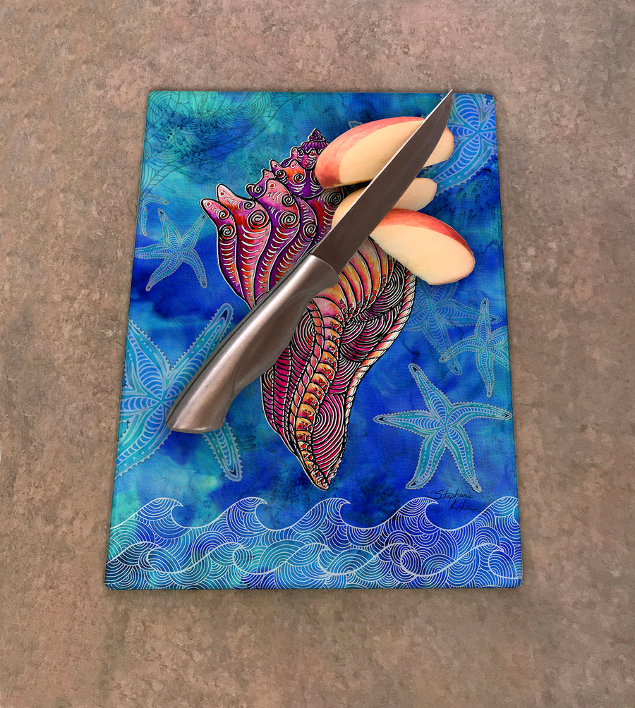 Conch Shell Cutting Board