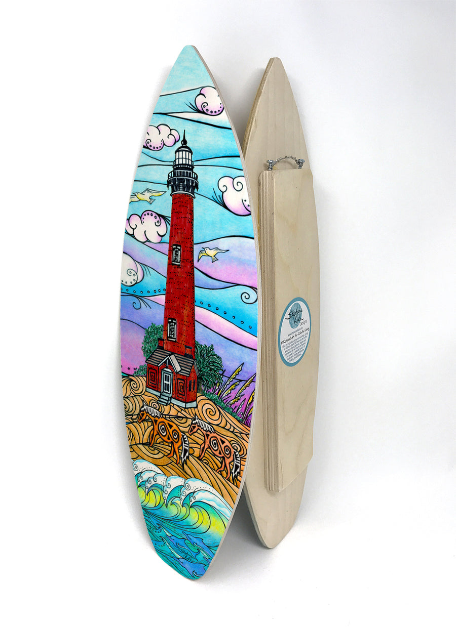 Corolla Lighthouse Surfboard Wall Art