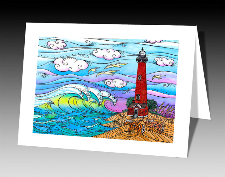 Corolla Waves Notecard