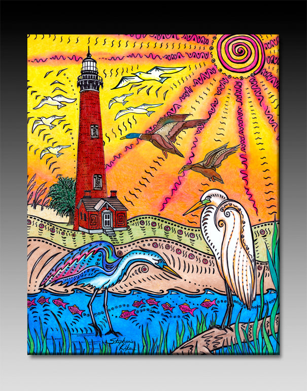 Currituck Lighthouse Ceramic Tile