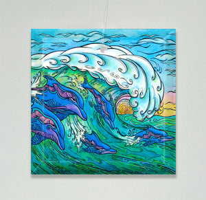 Wave Riding Ornament/Suncatcher