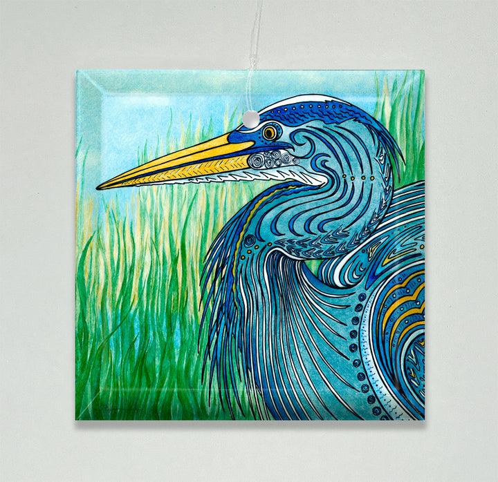 Great Blue Heron Ornament/Suncatcher