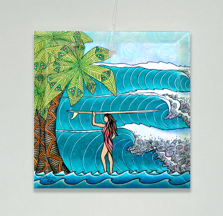 Surfer Girl Ornament/Suncatcher