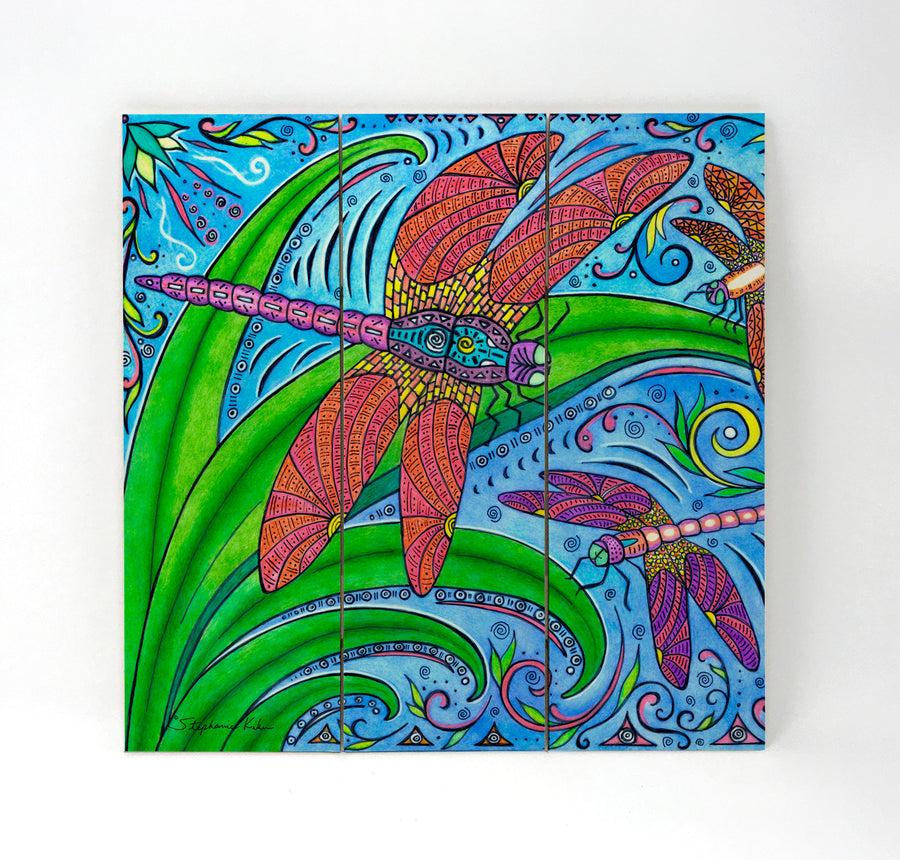 Dancing Dragonflies Wall Art