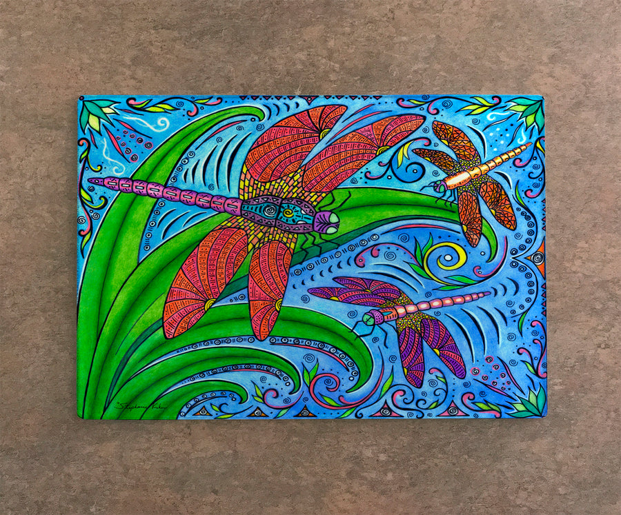 Dancing Dragonflies Cutting Board