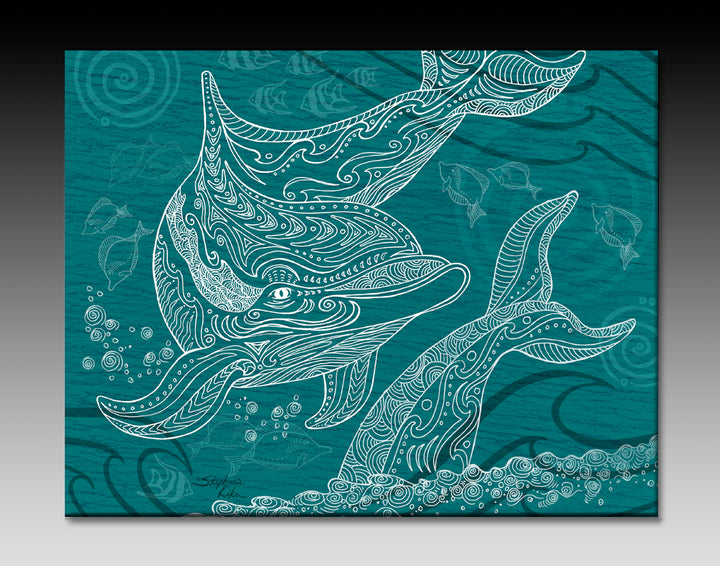 Dolphins One Color Ceramic Tile