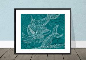 Dolphin One Color Giclee Print