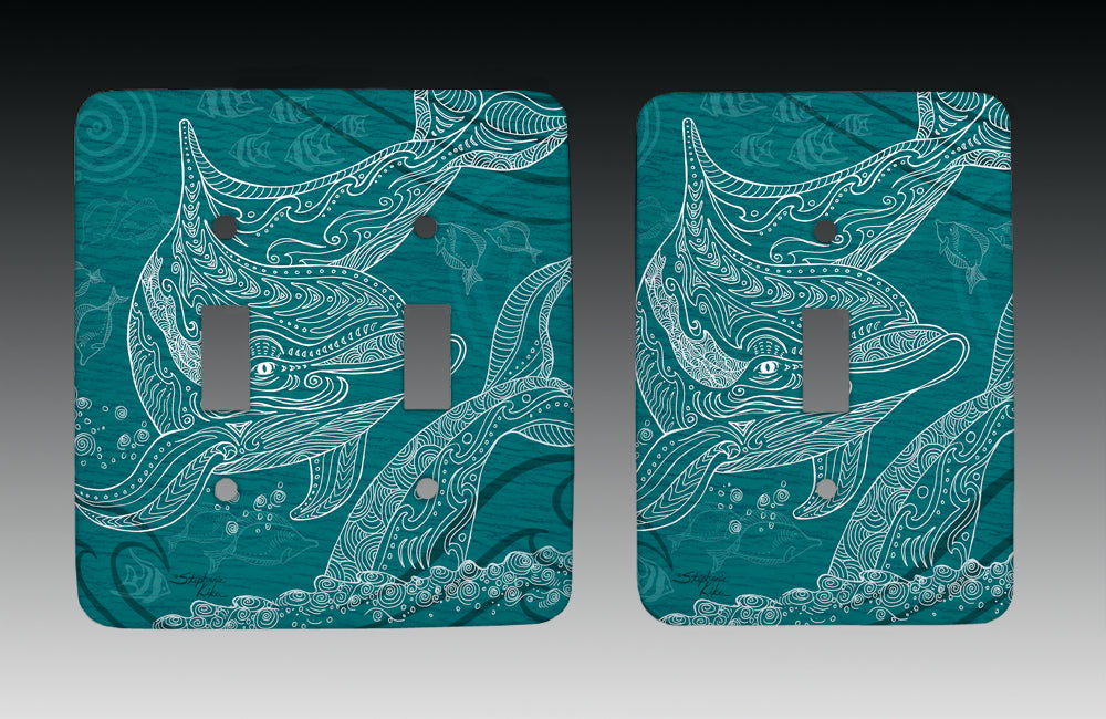 Dolphins One Color Light Switch Cover