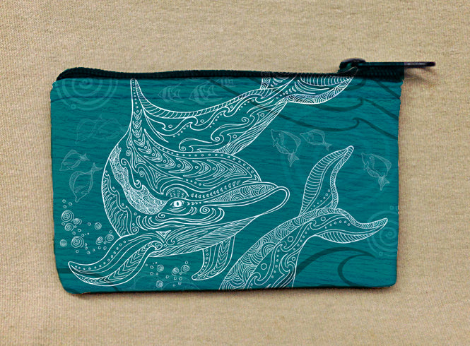 Dolphins One Color Coin Bag