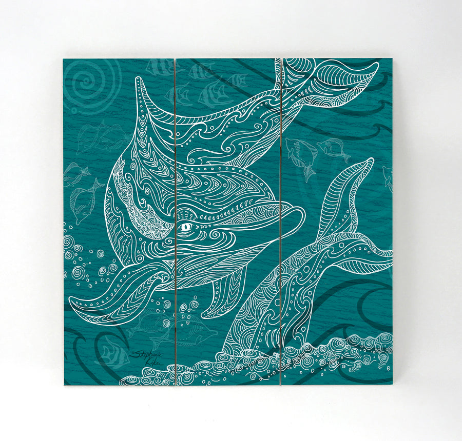 Dolphins One Color Wall Art