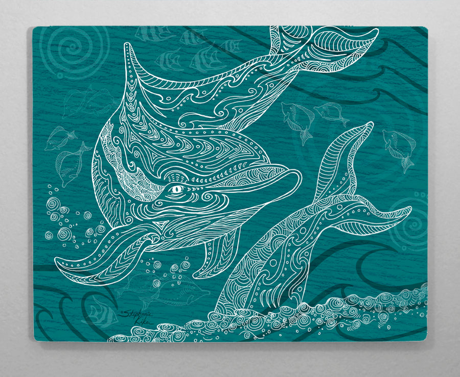 Dolphin One Color Aluminum Wall Art