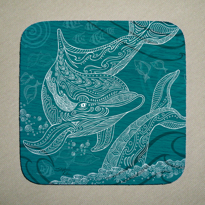 Dolphin One Color Coaster