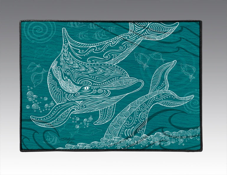 Dolphins One Color Door Mat