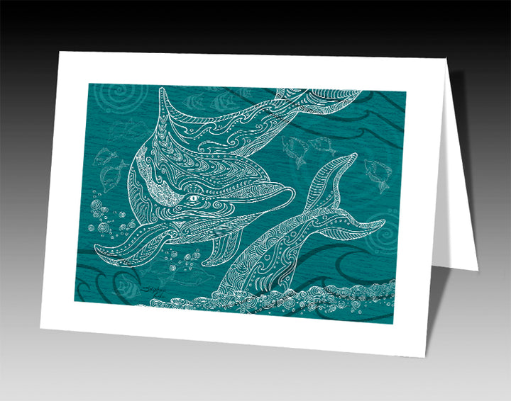 Dolphins One Color Notecard
