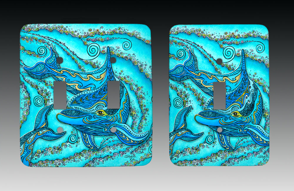 Dolphin Play Light Switch Cover