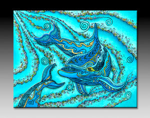 Dolphin Play Ceramic Tile