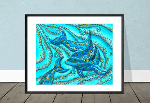 Dolphin Play Giclee Print