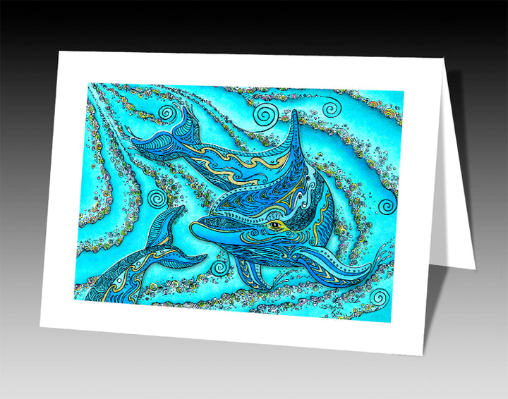 Dolphin Play Notecard