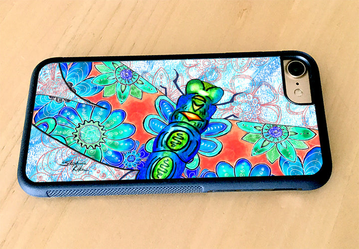 Dragonfly Flowers iPhone Case