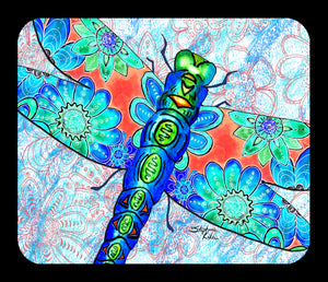 Dragonfly Flowers Mousepad