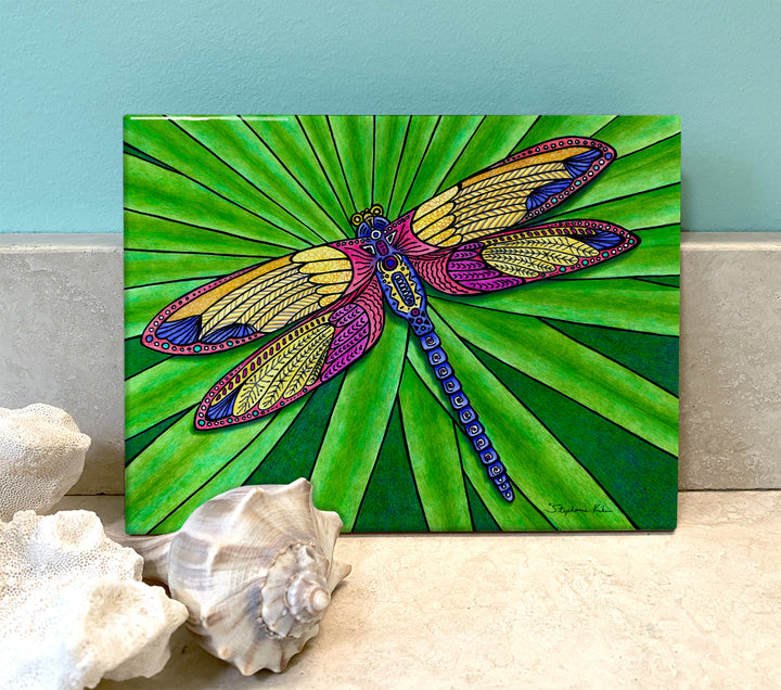 Dragonfly Ceramic Tile