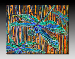 Dragonfly Garden Ceramic Tile