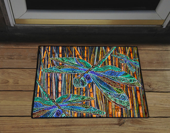 Dragonfly Garden Door Mat